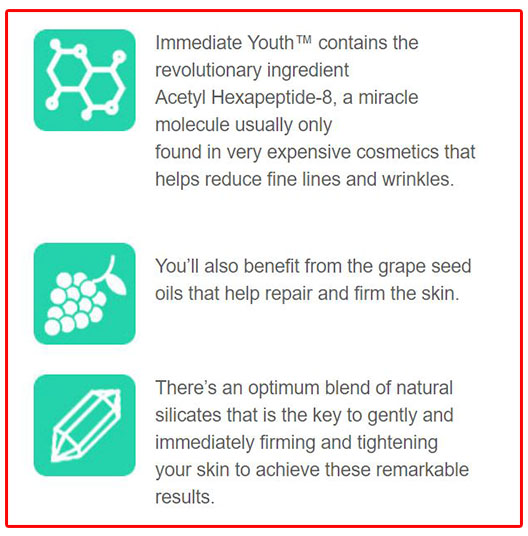 Immediate Youth Ingredients